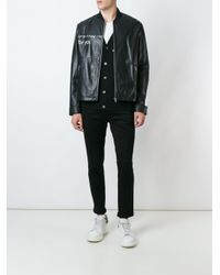 McQ - Black Urban Poetry Print Jacket for Men - Lyst