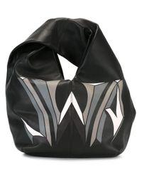 J.W.Anderson | Black - Logo Print Hobo Tote - Women - Calf Leather - One Size | Lyst
