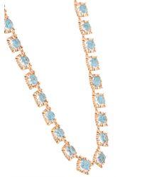 Larkspur & Hawk - Blue Mini 'bella Rivière' Necklace - Lyst