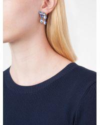 Larkspur & Hawk - Blue 'caterina' Double Cascade Earrings - Lyst