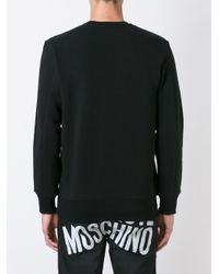 Love Moschino - Black Embossed Logo Sweatshirt for Men - Lyst