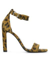 Saint Laurent - Multicolor Grace 105 Leather Sandals - Lyst