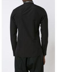 Givenchy - Black Zip Collar Shirt for Men - Lyst