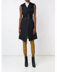 Veronica Beard - Black Sleeveless Trench Coat - Lyst