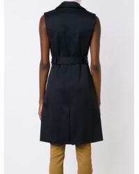 Veronica Beard - Black Sleeveless Trench Coat - Lyst