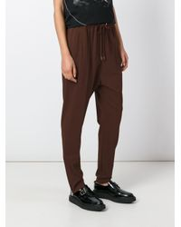 Givenchy - Multicolor - Drawstring Crepe Trousers - Women - Silk/spandex/elastane/acetate/viscose - 40 - Lyst