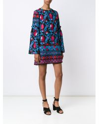 Tanya Taylor Black Irene Floral Dress