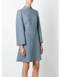 Valentino Blue Crepe Couture Dress