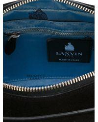 Lanvin Black Nomad Suede Camera Bag