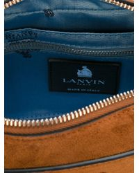 Lanvin Brown Nomad Suede Camera Bag