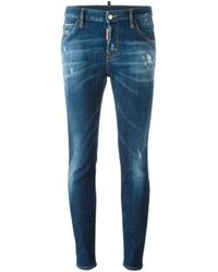 DSquared² | Blue 'cool Girl' Jeans | Lyst