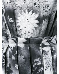 Christopher Kane Black Sprayed Floral Print Dress