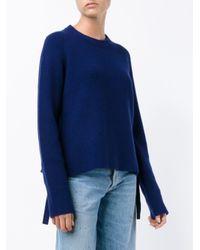 Proenza Schouler Blue Appliquéd Wool Sweater