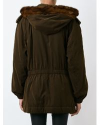 Moschino - Brown Bag Detail Coat - Lyst