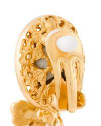 Dolce & Gabbana | Metallic Drop Bee Clip-on Earrings | Lyst