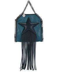 Stella McCartney Blue Tiny 'falabella Fringed Star' Tote