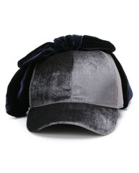 Federica Moretti | Gray 'velvet Bow' Baseball Cap for Men | Lyst