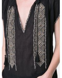 Joie Black Lomax Embroidered Top