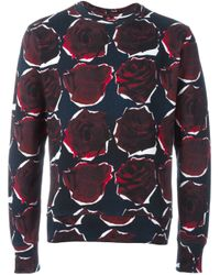 PS by Paul Smith - Blue Rose Print Sweatshirt for Men - Lyst