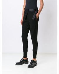 Ann Demeulemeester - Black Gathered Ankle Trousers - Lyst