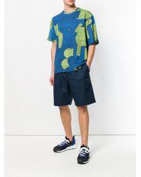 Marni Blue Patterned T-shirt for men