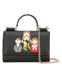 Dolce & Gabbana - Black Mini 'von' Wallet Crossbody Bag - Lyst