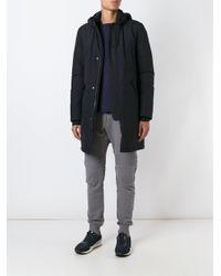 Herno - Black Hooded Coat for Men - Lyst