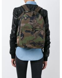 Valentino Green 'funky Dragon' Camouflage Backpack