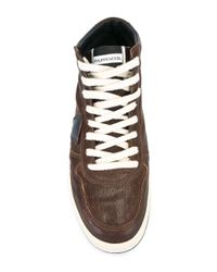 Philippe Model Brown 'lakers High Vintage' Sneakers for men