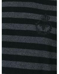 Dolce & Gabbana Black Striped Jumper for men