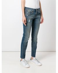 R13 - Blue Distressed Jeans - Lyst