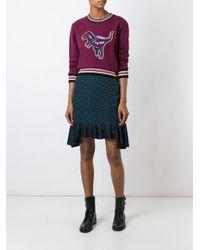 COACH Multicolor Varsity 'rexy' Sweatshirt
