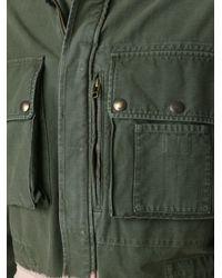 Faith Connexion Green Contrast Military Jacket for men