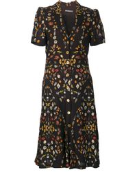 Alexander McQueen | Black 'obsession' Button-up Dress | Lyst