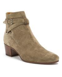 Saint Laurent Green Blake Suede Jodhpur Boots
