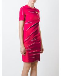 Moschino Multicolor Trompe L'oeil Logo T-shirt Dress