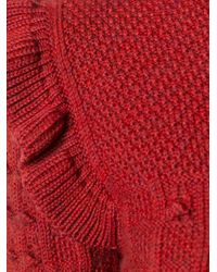 Philosophy Di Lorenzo Serafini | Multicolor Ruffle Shoulder Sweater | Lyst