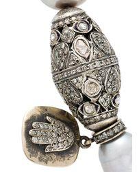 Loree Rodkin - Gray Feather 18karat Rhodium White Gold Hand Cuff - Lyst