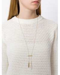 Isabel Marant - Metallic Hanging Feather Necklace - Lyst