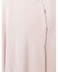 Stella McCartney - Blue Oversize Knitted Cape - Lyst