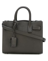 Saint Laurent Gray Nano 'sac De Jour' Tote Bag