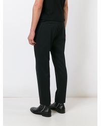 Dolce & Gabbana Black Embroidered Crown Trousers for men