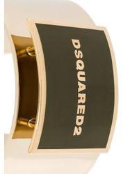 DSquared² - Metallic Logo Plaque Cuff - Lyst