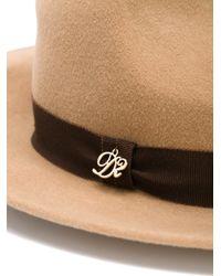 DSquared² - Brown Hatband Fedora - Lyst