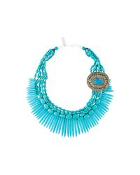 Night Market | Blue Beaded Necklace | Lyst