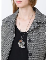 Maison Margiela - Metallic Perspex Pendant Necklace - Lyst