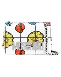 Moschino | White Floral Quilted Shoulder Bag | Lyst