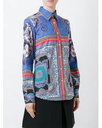 Etro - Multicolor Mixed Print Shirt - Lyst