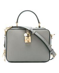 Dolce & Gabbana | Gray 'rosaria' Box Tote | Lyst