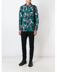 KTZ Green - Camouflage Print Shirt - Men - Cotton - L for men